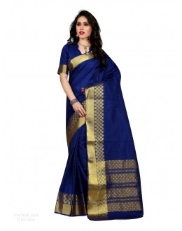 Party Wear Poly Silk Blue Saree - RKSGVS824