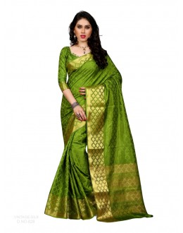 Party Wear Poly Silk Green Saree - RKSGVS828