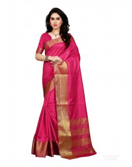 Party Wear Poly Silk Pink Saree - RKSGVS825