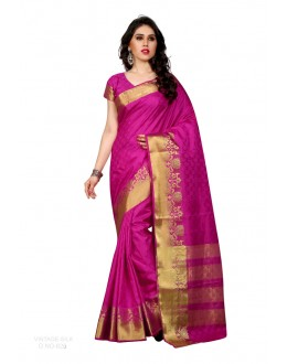 Party Wear Poly Silk Pink Saree - RKSGVS826