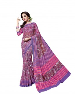 Ethnic Wear Linen Cotton Silk Multicolor Saree - RKVI16111