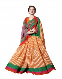 Ethnic Wear Linen Cotton Silk Multicolor Saree - RKVI16112
