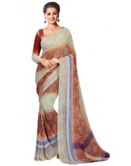 Ethnic Wear Multicolour Georgette Saree  - RKAM207