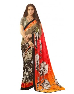 Casual Wear Multicolour Saree  - RKSARD411