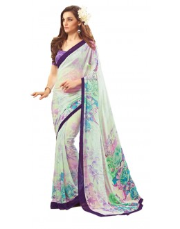 Casual Wear Multicolour Georgette Saree  - RKSARD422