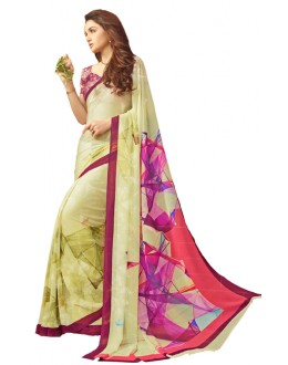 Casual Wear Multicolour Georgette Saree  - RKSARD432