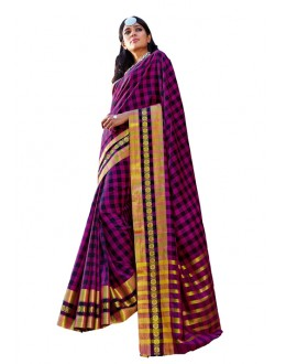 Party Wear Purple  Saree - RKSPASHRITHA