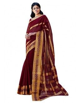 Party Wear Magenta Gold  Saree - RKSPCHESTHA