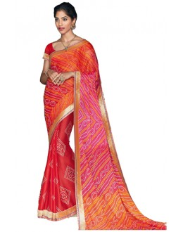 Party Wear Multicolour Georgette Saree  - RKVI17001