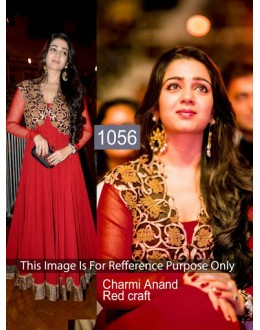 Bollywood Replica-Charmi Anand In Red Georgette Party Wear Dress-1056