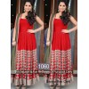 Bollywood Replica-Sania Mirza In Designer Red Georgette Party Wear Long Dress-1060