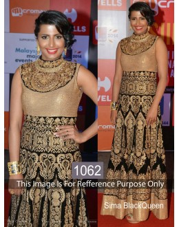 Bollywood Replica-Sima In Designer Heavy Embroidered Gold & Black Bridal Gown-1062 ( IB-731 )