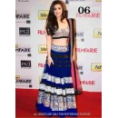 Bollywood Replica -Striking Hot Alia Bhatt Bollywood Blue Lehenga Choli Replica-06(SIA)
