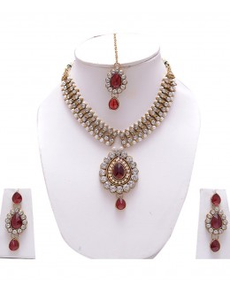 Designer Traditional Necklace Set - ms004 ( MSTYLIST-9095 - MISS )