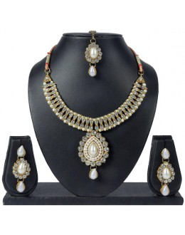 Designer Traditional Necklace Set - ms005 ( MSTYLIST-9095 - MISS )