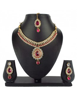 Designer Traditional Necklace Set - ms006 ( MSTYLIST-9095 - MISS )