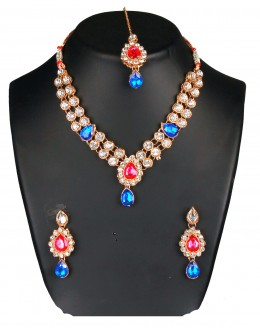 Designer Traditional Necklace Set - ms007 ( MSTYLIST-9095 - MISS )