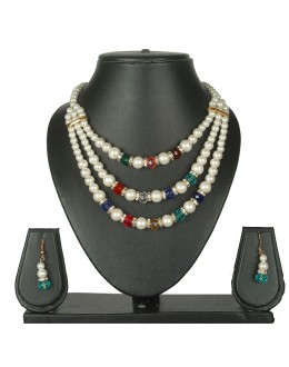 Designer Traditional Necklace Set - ms014 ( MSTYLIST-9095 - MISS )