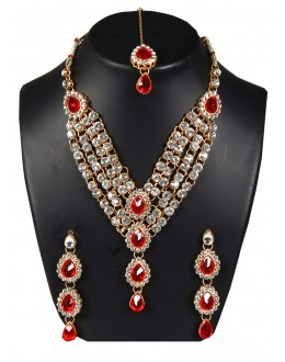 Designer Traditional Necklace Set - ms015 ( MSTYLIST-9095 - MISS )