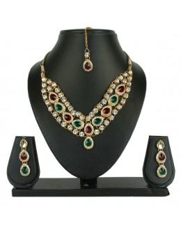 Designer Traditional Necklace Set - ms016 ( MSTYLIST-9095 - MISS )
