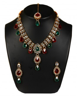 Designer Traditional Necklace Set - ms020 ( MSTYLIST-9095 - MISS )