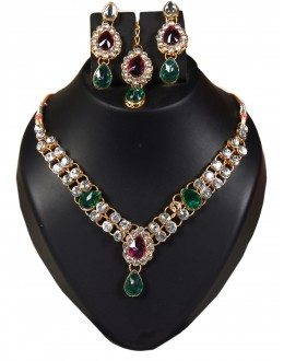 Designer Traditional Necklace Set - ms022 ( MSTYLIST-9095 - MISS )