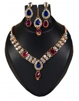 Designer Traditional Necklace Set - ms025 ( MSTYLIST-9095 - MISS )