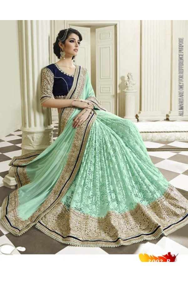 Bollywood Replica -  Designer Green Saree - 3002-B