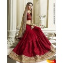 Bollywood Replica -  Designer Maroon Saree - 3010