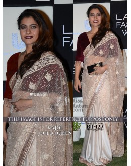 Bollywood Replica - Kajol In Designer Gold Saree - BT-127