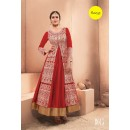 Designer Red Pure Dhupian Embroidered  Anarkali Gown - 35506 ( MJ-RAMA-GOWN )