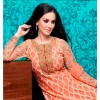 Wedding Special Orange Georgette Embroidery Salwar Kameez - 8402 (MJ-Vipul 8400)