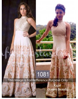 Bollywood Replica-Kajal Agarwal Designer Off-White Georgette Party Wear Suit - 1081
