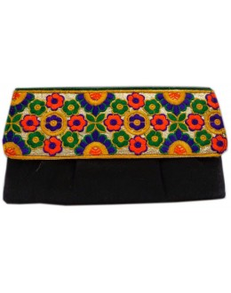 Designer Embroidered Black Fancy Party Wear Hand Clutch -NS 22 ( SDF-DP)