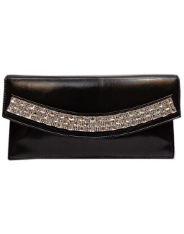 Designer Fancy Diamond Studded Black Party Wear Hand Clutch -NS 8 ( SDF-DP)