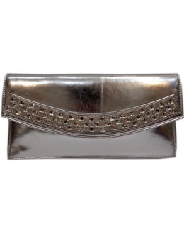 Designer Fancy Diamond Studded Silver Party Wear Hand Clutch -NS 9 ( SDF-DP)
