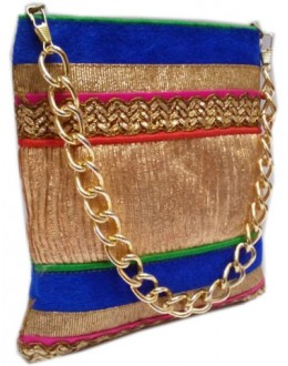 Designer Fancy Multi Color Party Wear Handbag With Sling -NS 74 ( SDF-DP)