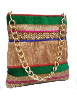 Designer Fancy Multi Color Party Wear Handbag With Sling -NS 75 ( SDF-DP)