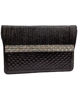 Designer Glamorous Black Party Wear Hand Clutch-NS 91 ( SDF-DP )
