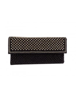 Designer Glamorous Heavy Worked Black Party Wear Hand Clutch-NS 95 ( SDF-DP )