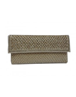 Designer Glamorous Heavy Worked Off-White Party Wear Hand Clutch-NS 94 ( SDF-DP )