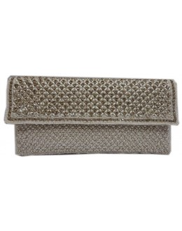 Designer Glamorous Heavy Worked White Party Wear Hand Clutch-NS 93 ( SDF-DP )