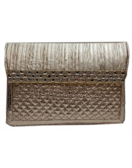 Designer Glamorous Shinny Off-White Party Wear Hand Clutch-NS 92 ( SDF-DP )