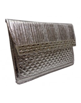 Designer Glamorous Silver Party Wear Hand Clutch-NS 89 ( SDF-DP )