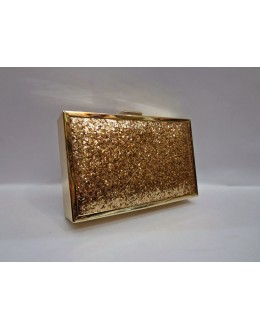 Designer Royal Glamorous Golden Party Wear Hand Clutch-NS 88 ( SDF-DP )