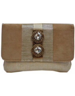 Designer Stylish Cream Velvet With Jute Party Wear Hand Clutch -NS 31 ( SDF-DP)