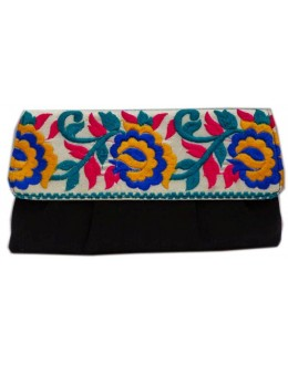 Designer Stylish Embroidered Black Fancy Party Wear Hand Clutch -NS 21 ( SDF-DP)