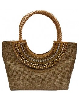 Designer Heavy Worked Jute Party Wear Hand Bag-SB 13 ( SDF-DP )