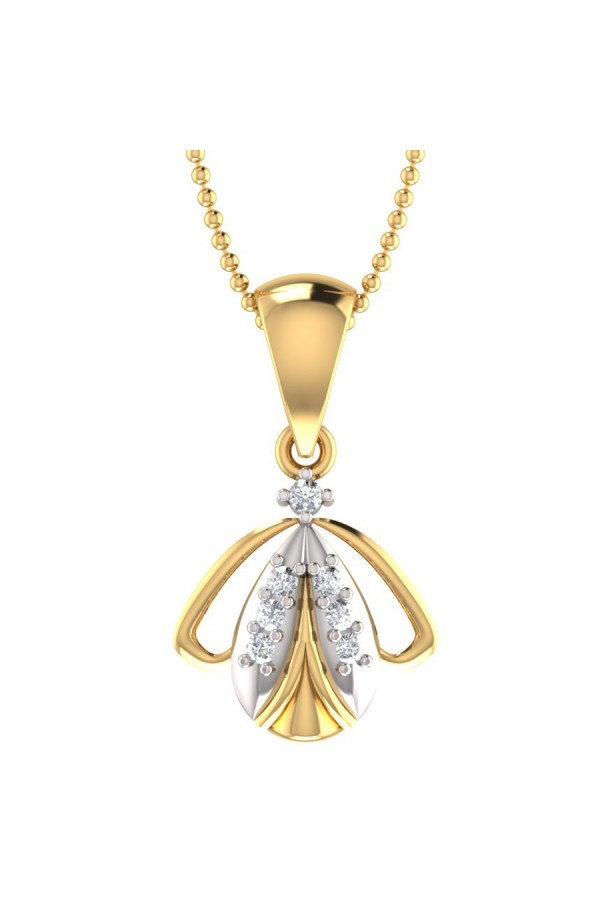 Bright Fashion 92.5 Sterlling Silver, Beautiful `BEETEL' Shape Pendant - (PD-00824)