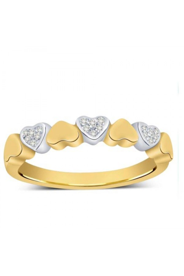 Bright Fashion 92.5 Sterlling Silver Classic Heart Ring - (R-2460)